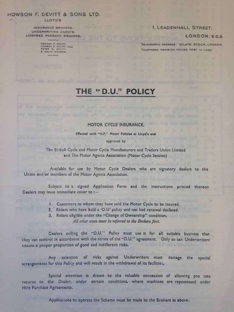 The DU Policy