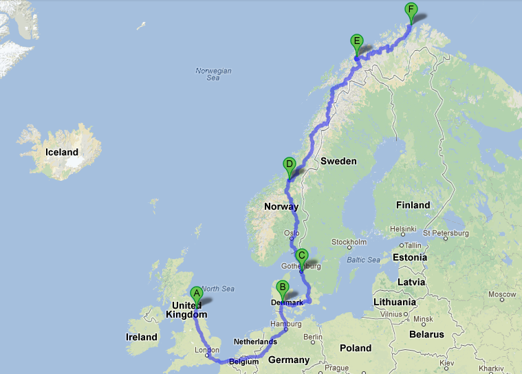 Arctic Ride Route