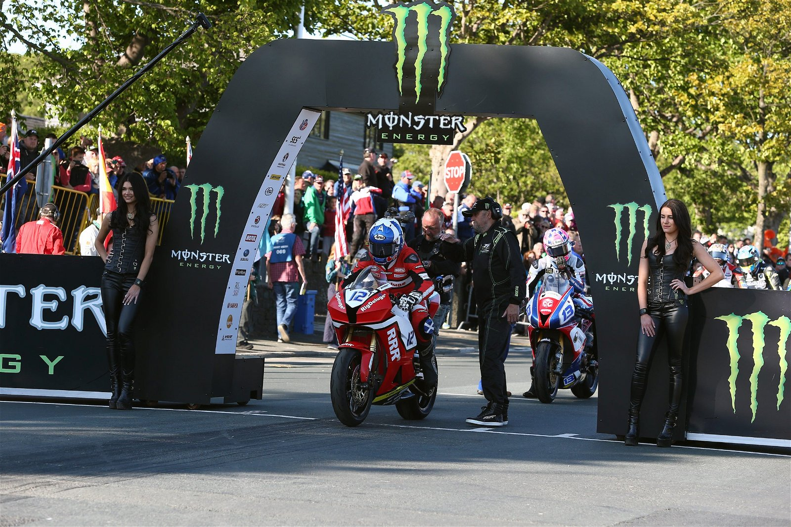 Keith Amor crashed out of the opening Supersport race