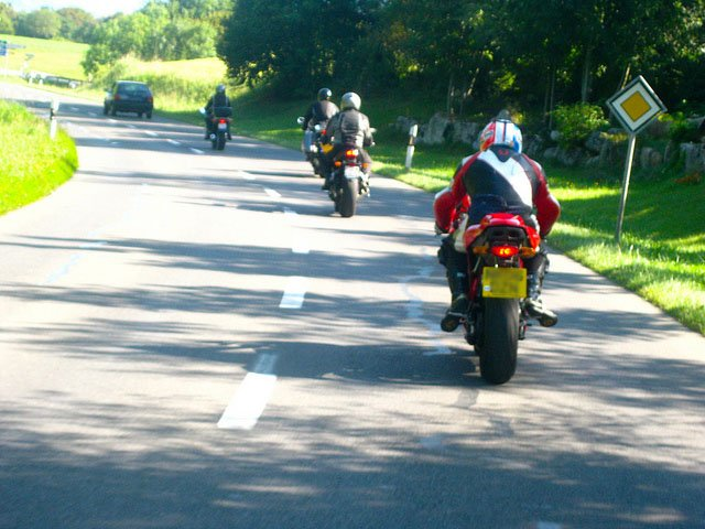 motorbike riding on the left hand side in France