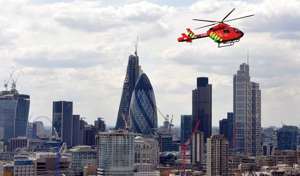 London's Air Ambulance helicopter over London 2