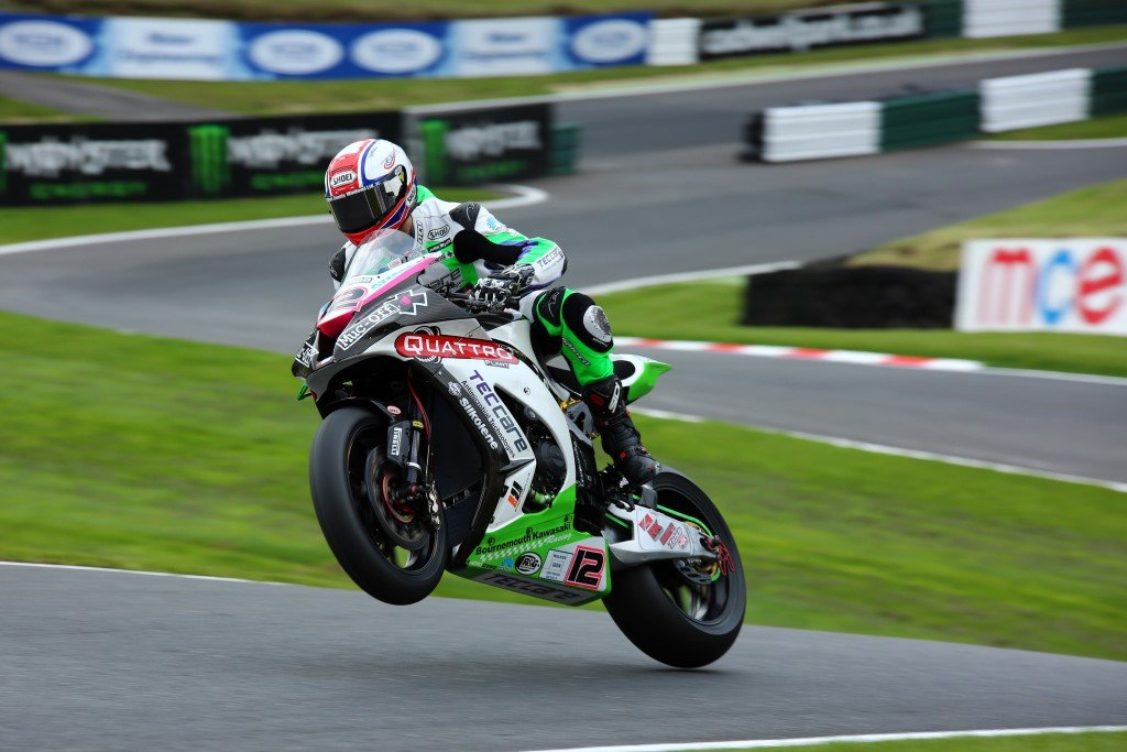 Luke Mossey doing a wheely image by Impact Images