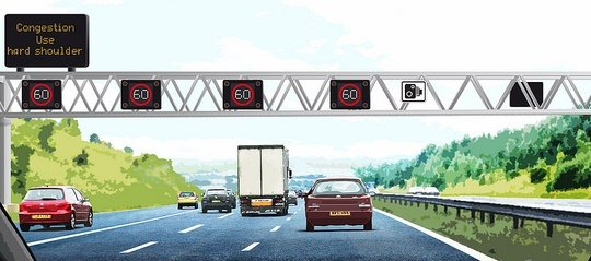 image from Highways England Gantry Sign