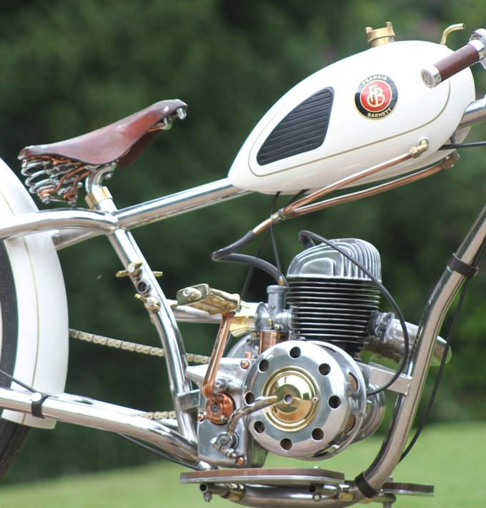 bicycle seat on motorcycle
