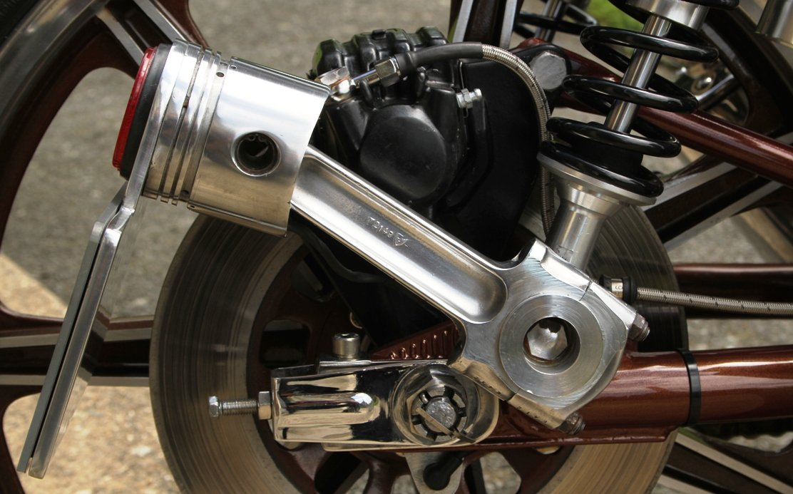 side mount for number plate on motorcycle