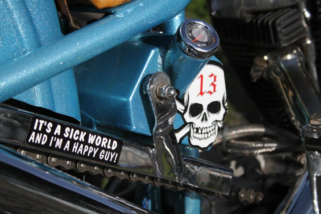 personalised stickers on motorcycle