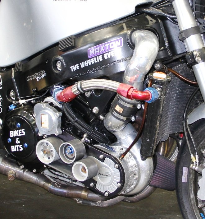 supercharge motorcycle modifcation