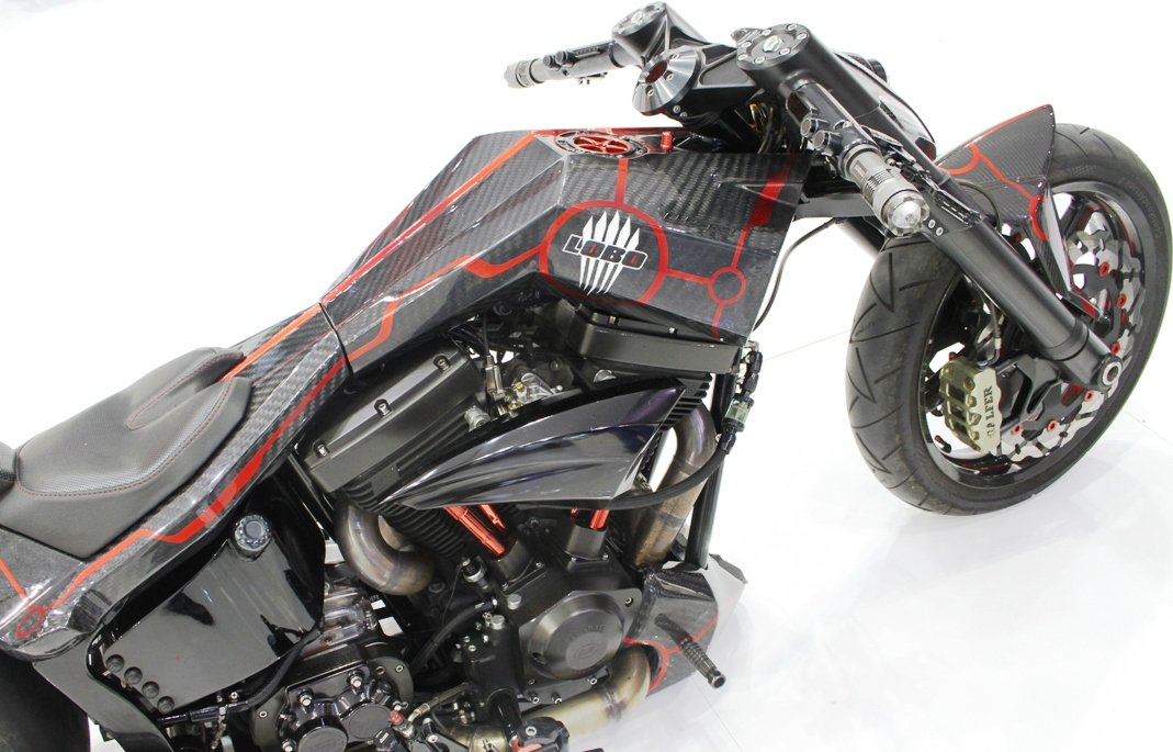 motorcycle with sharp angles
