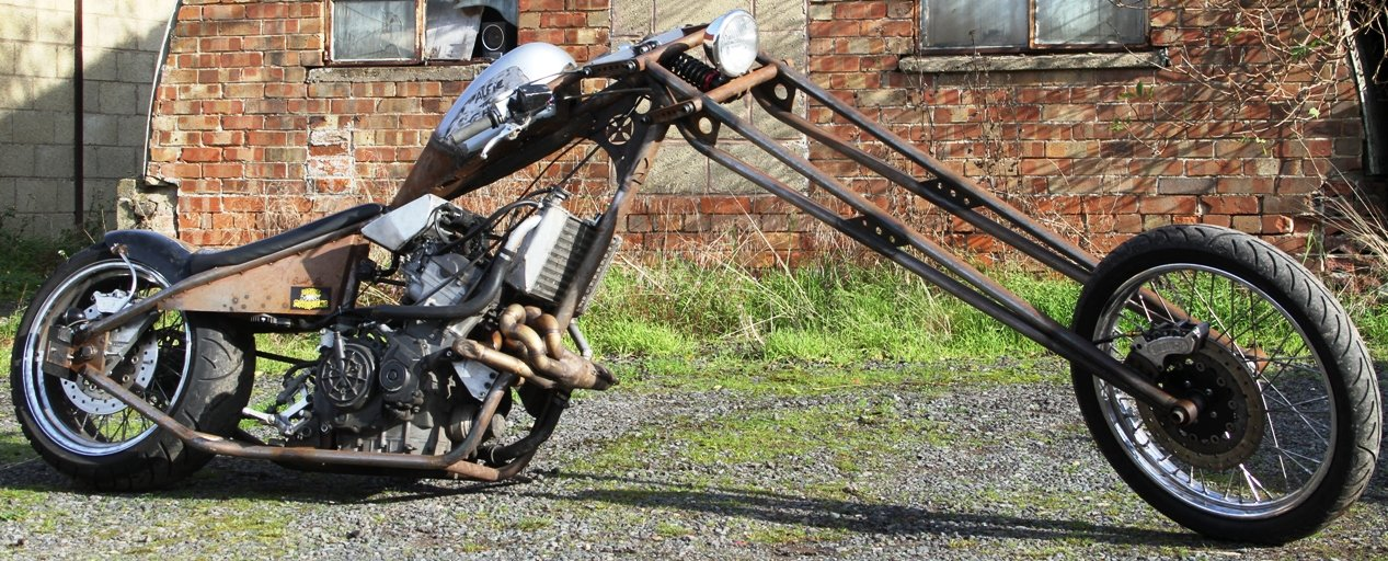modified motorcycle extra length