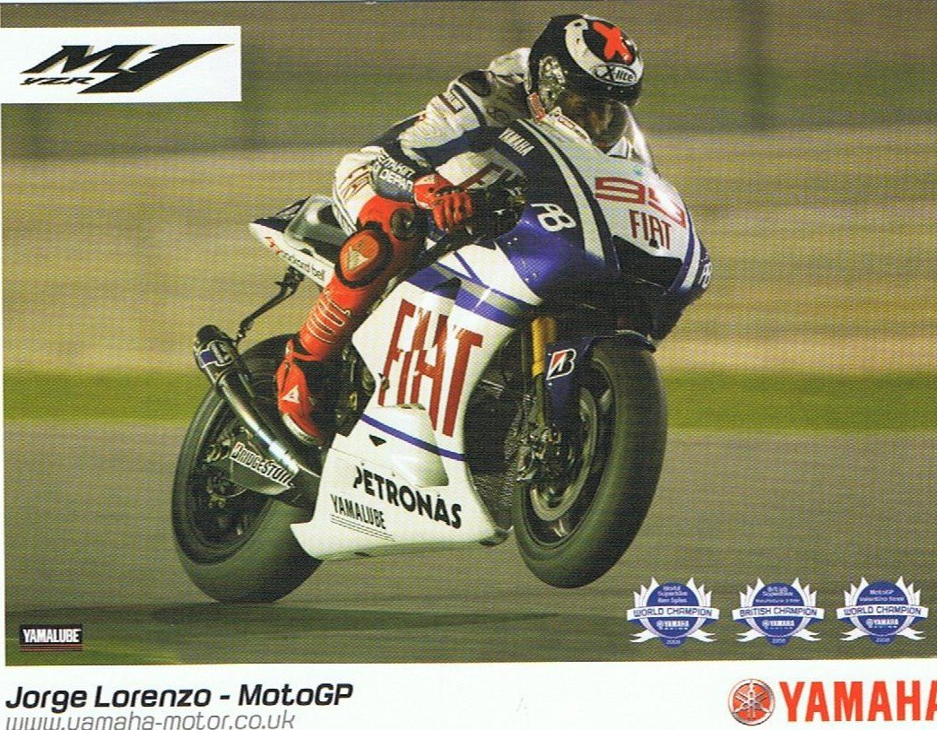 Jorge Lorenzo - Qatar - 2010. Credit: Official team postcard