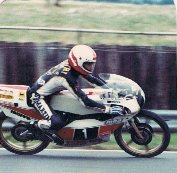 Pier Paolo Bianchi at Silverstone.1980. Credit: Phil Wain's Family Archive