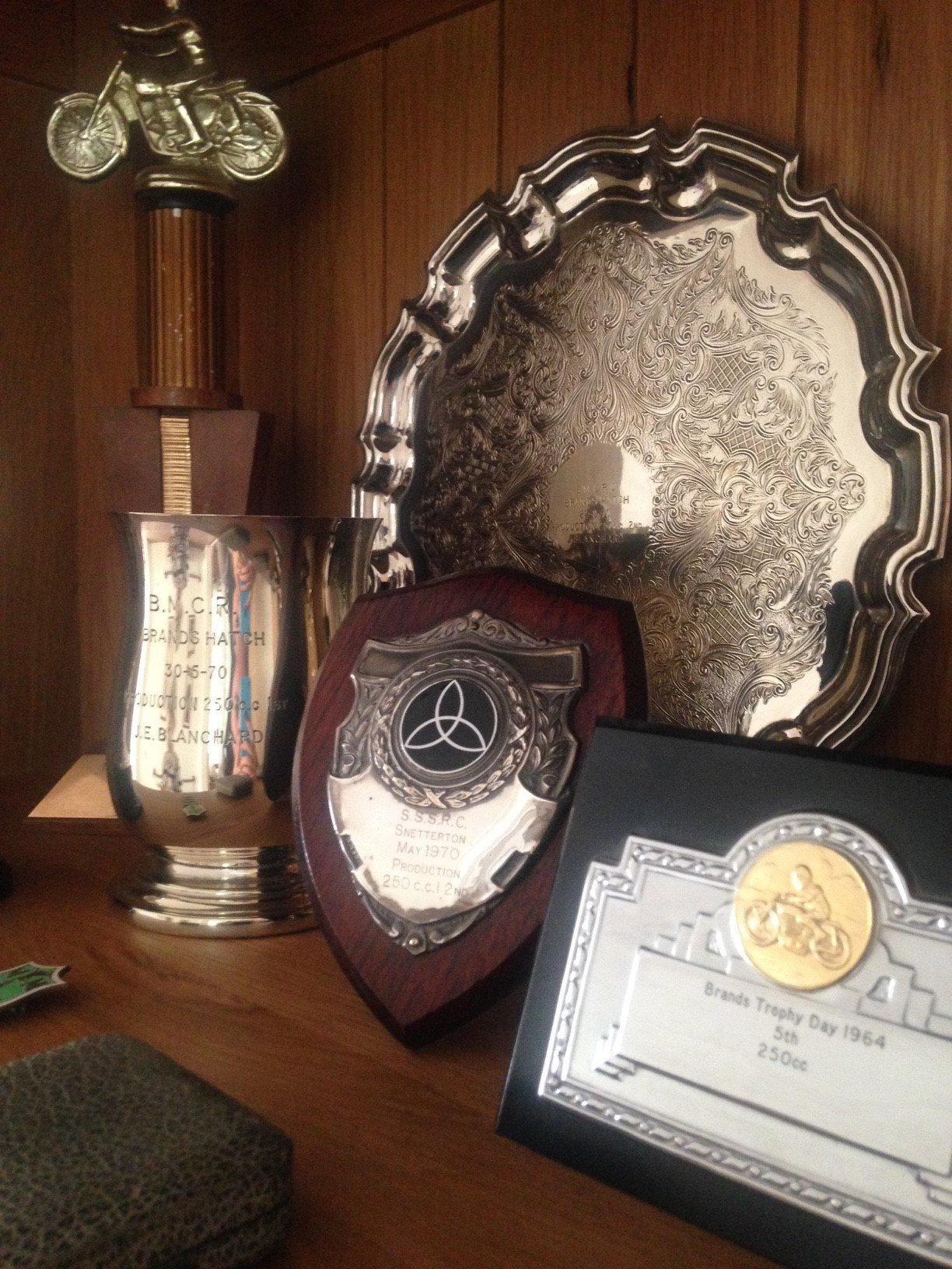 A selection of John's trophies