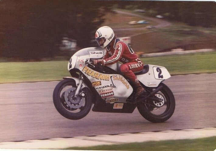 Ron Haslam at Donnington Park credit Phil Wain's Family Archive