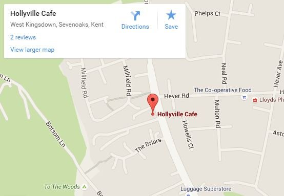 Hollyville Cafe map