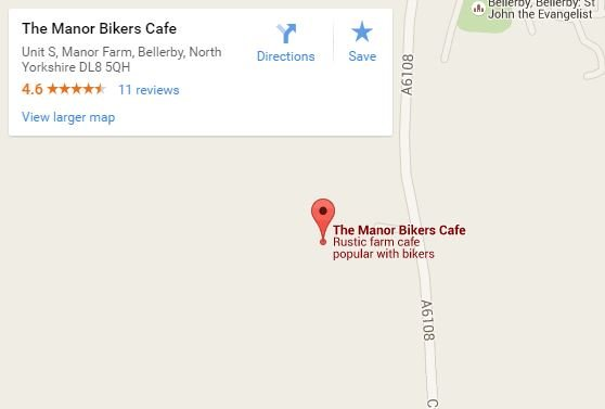 Manor Cafe map