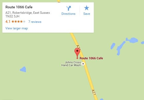Route 1066 cafe map