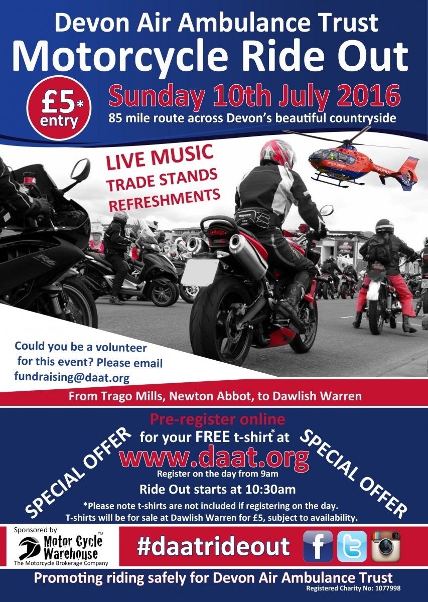 Devon Air Ambulance Motorcycle Ride Out