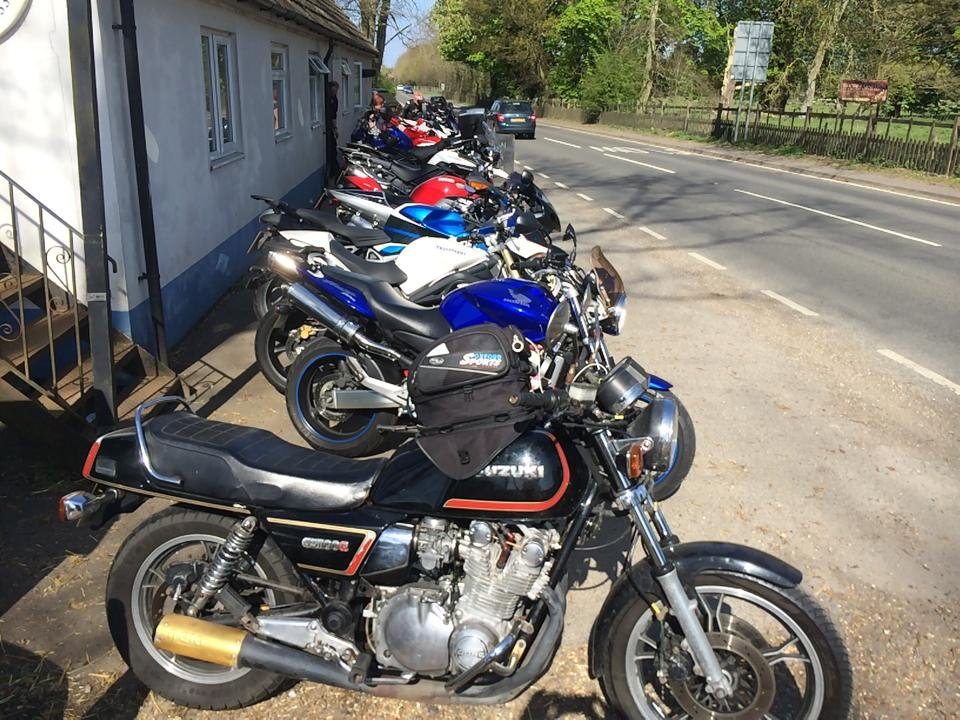 Blue and White Cafe bikes lined up credit fb
