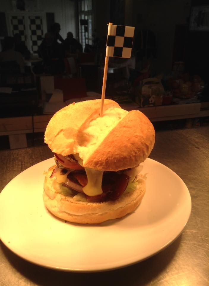 Chequered Flag classic twin burger credit fb