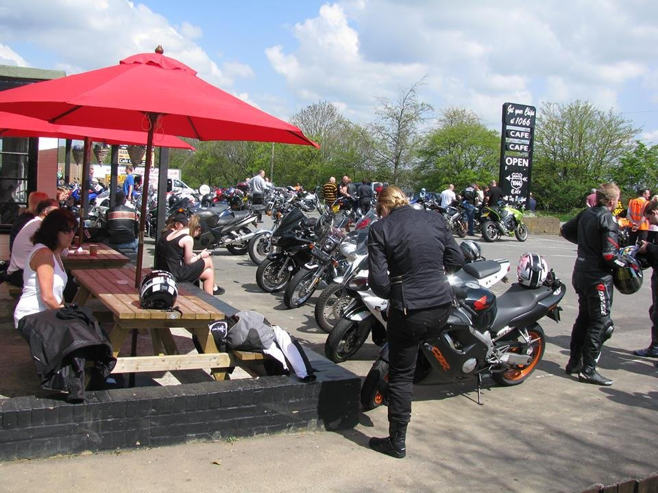 Route 1066 Cafe busy bike night credit FB