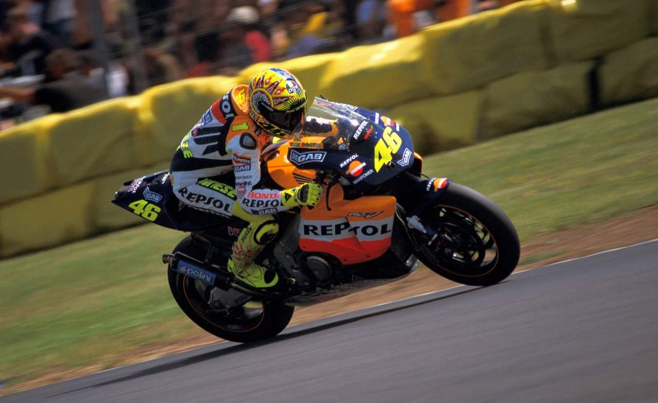 Valentino Rossi credit Phil Wain's family archive