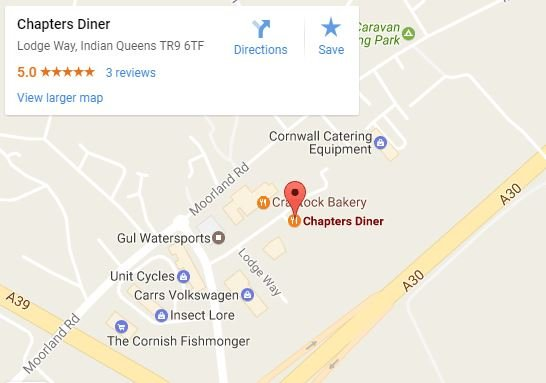 Chapter 1 diner map