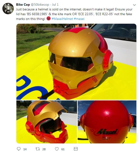 Fake motorcycle helmet