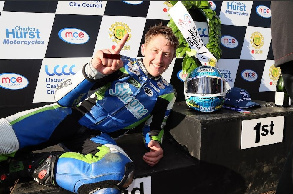 Dean Harrison claims a new lap record image credit @MCNSport Twitter