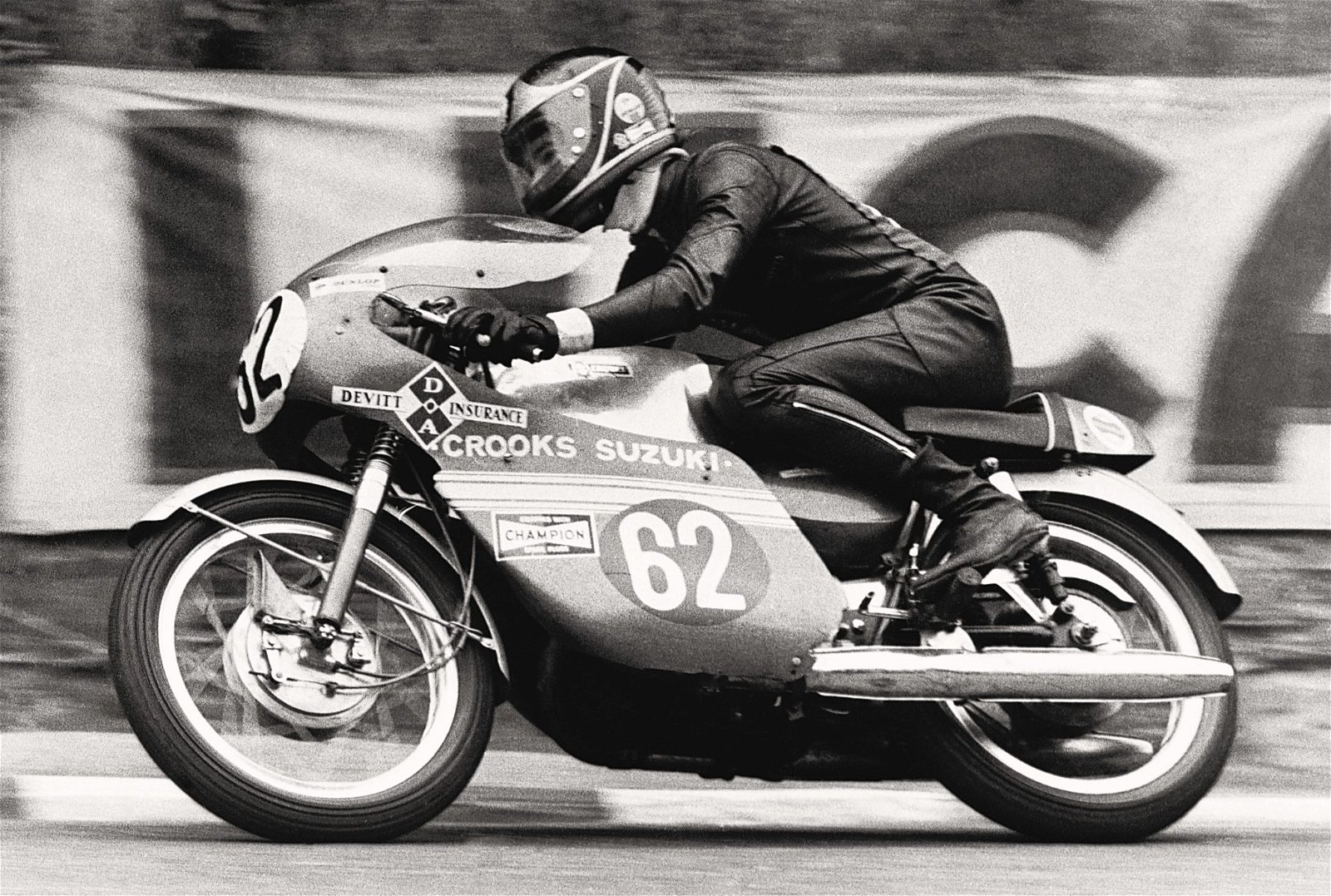 Sheene during the one and only year he raced at the Isle of Man TT 1971.