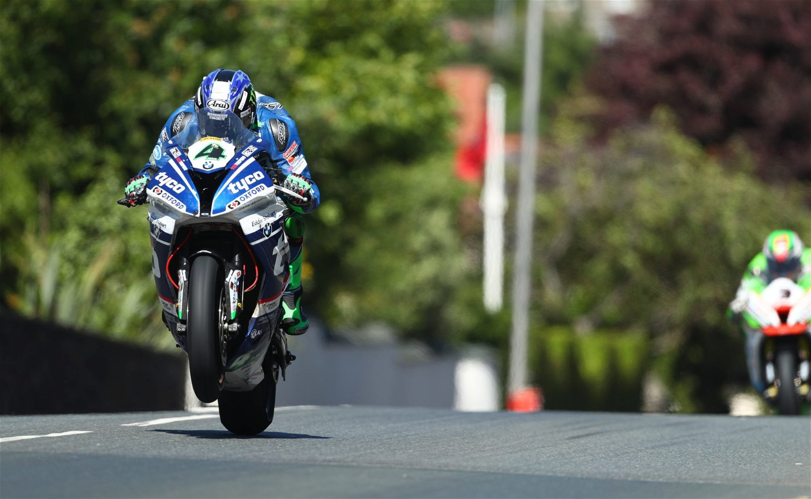 Ian Hutchinson at the TT in 2017 image by Double Red