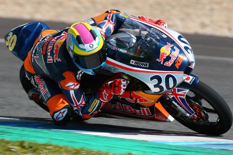 Max Cook on track during Red Bull Rookies MotoGP testing