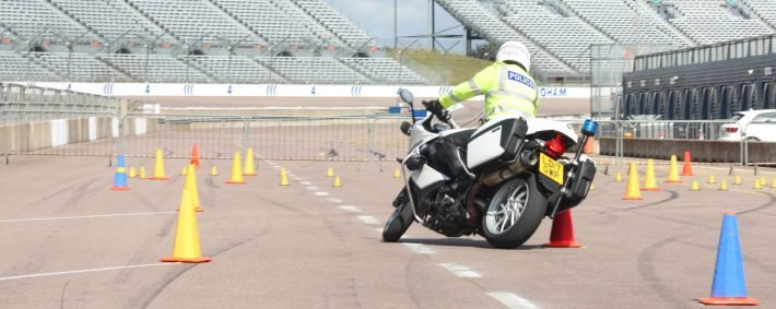 Police showing their riding skills