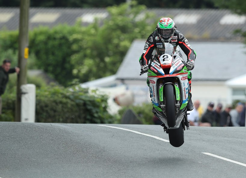 Hillier gets some air at the TT credit iomtt.com