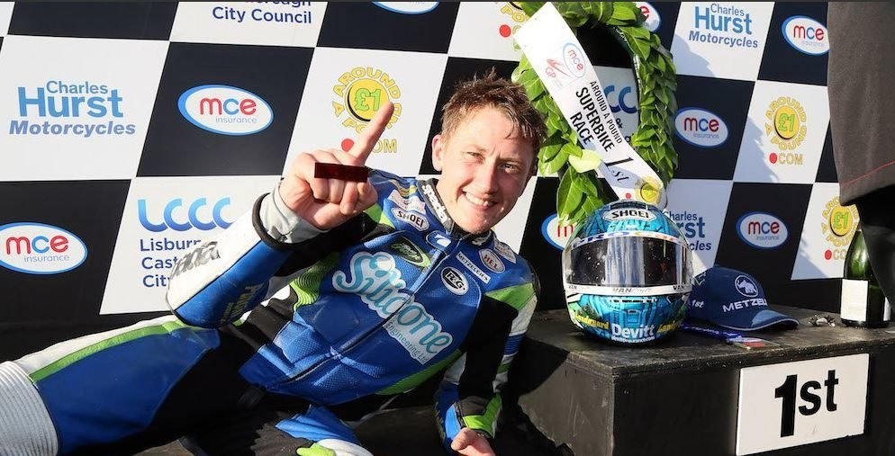 Dean Harrison claims a new lap record at the 2017 Ulster GP image credit @MCNSport Twitter
