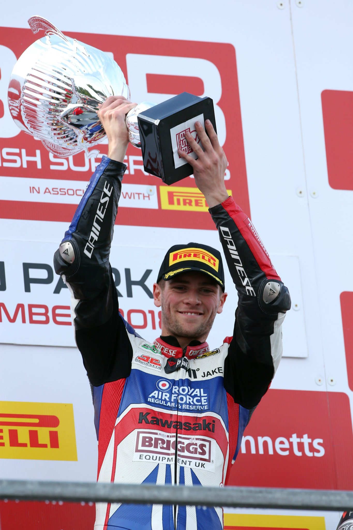 Dixon on the podium after win credit Tim Keeton (Impact Images Photography)