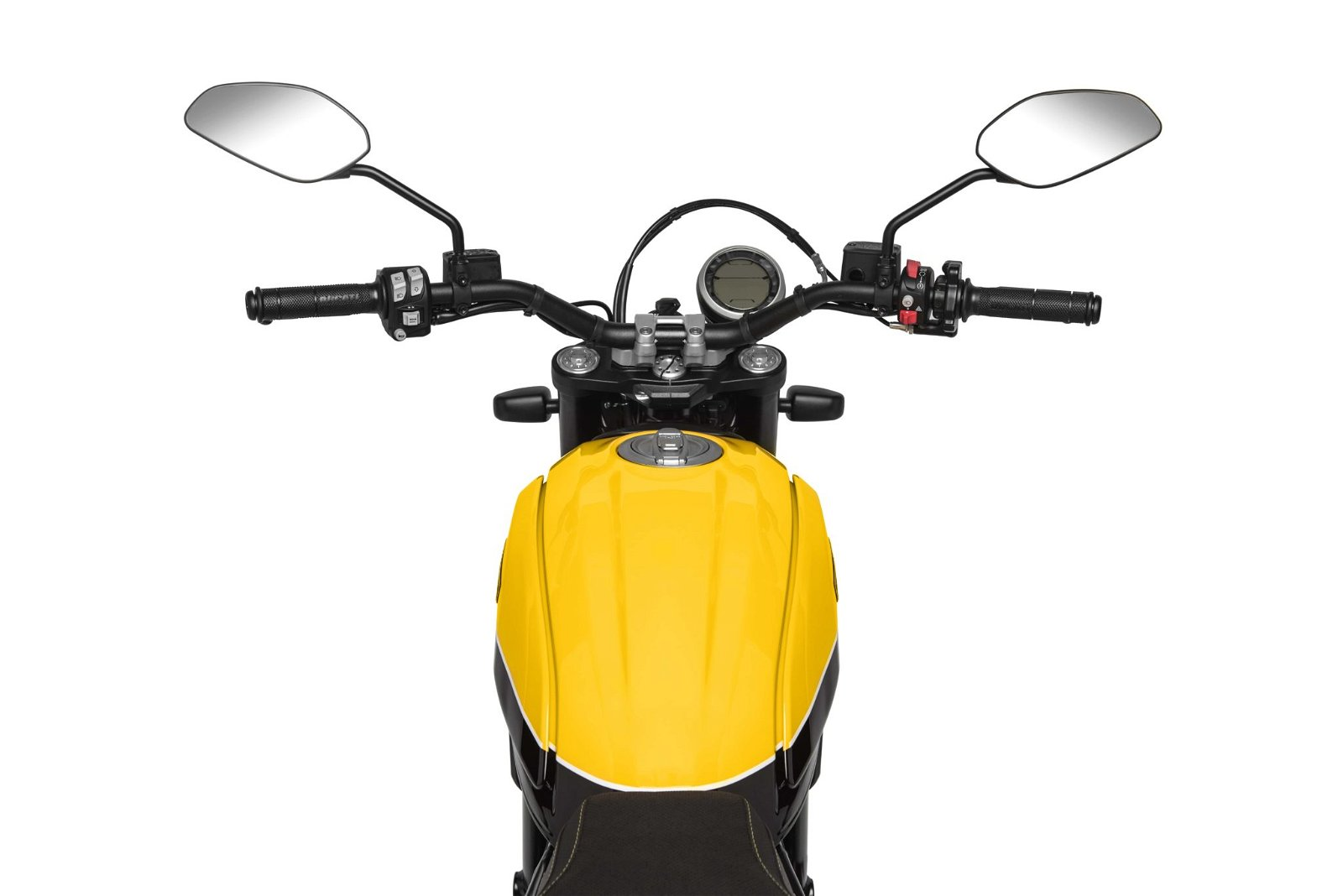 Ducati Scrambler Full Throttle handlebar view