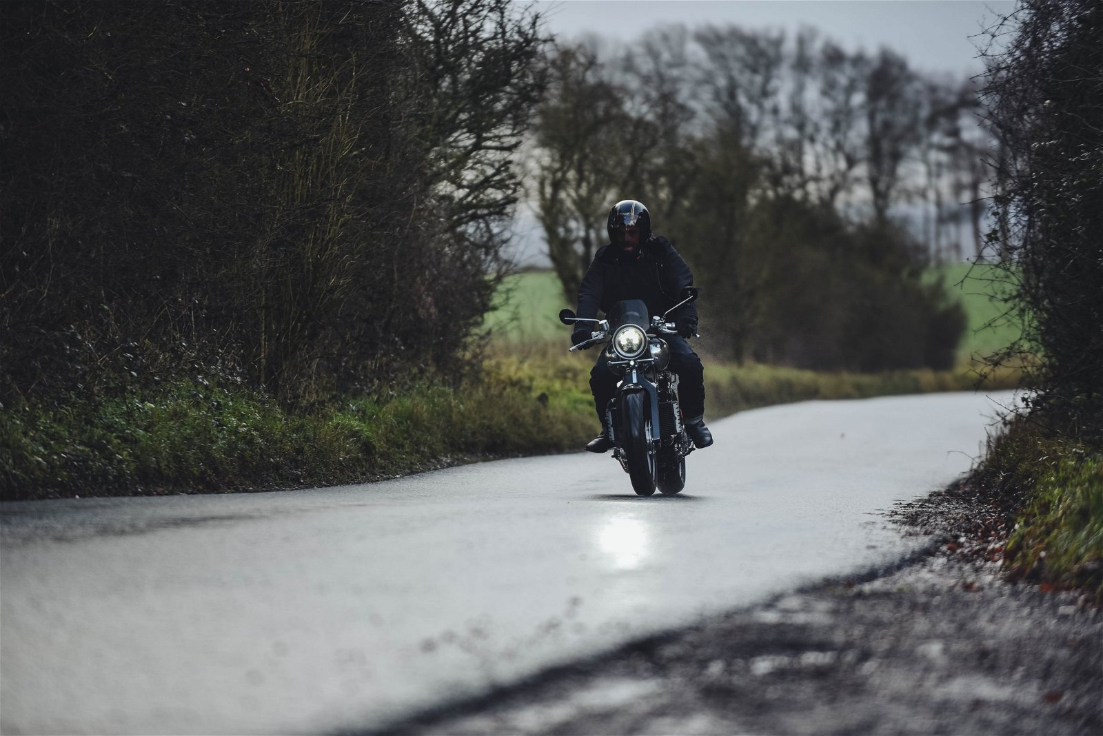 Motorcycle riding on road