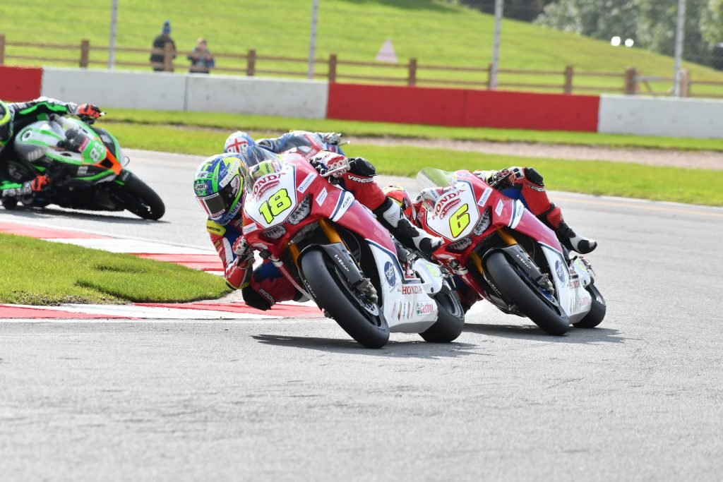 Irwin and Fores racing at BSB